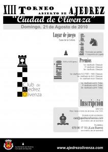 2016 XIII Torneo Ciudad de Olivenza _Cartel